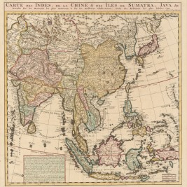 Antique Map South East Asia by Chatelain