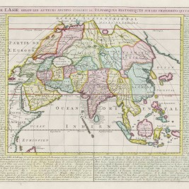 Antique Map of Asia by Chatelain