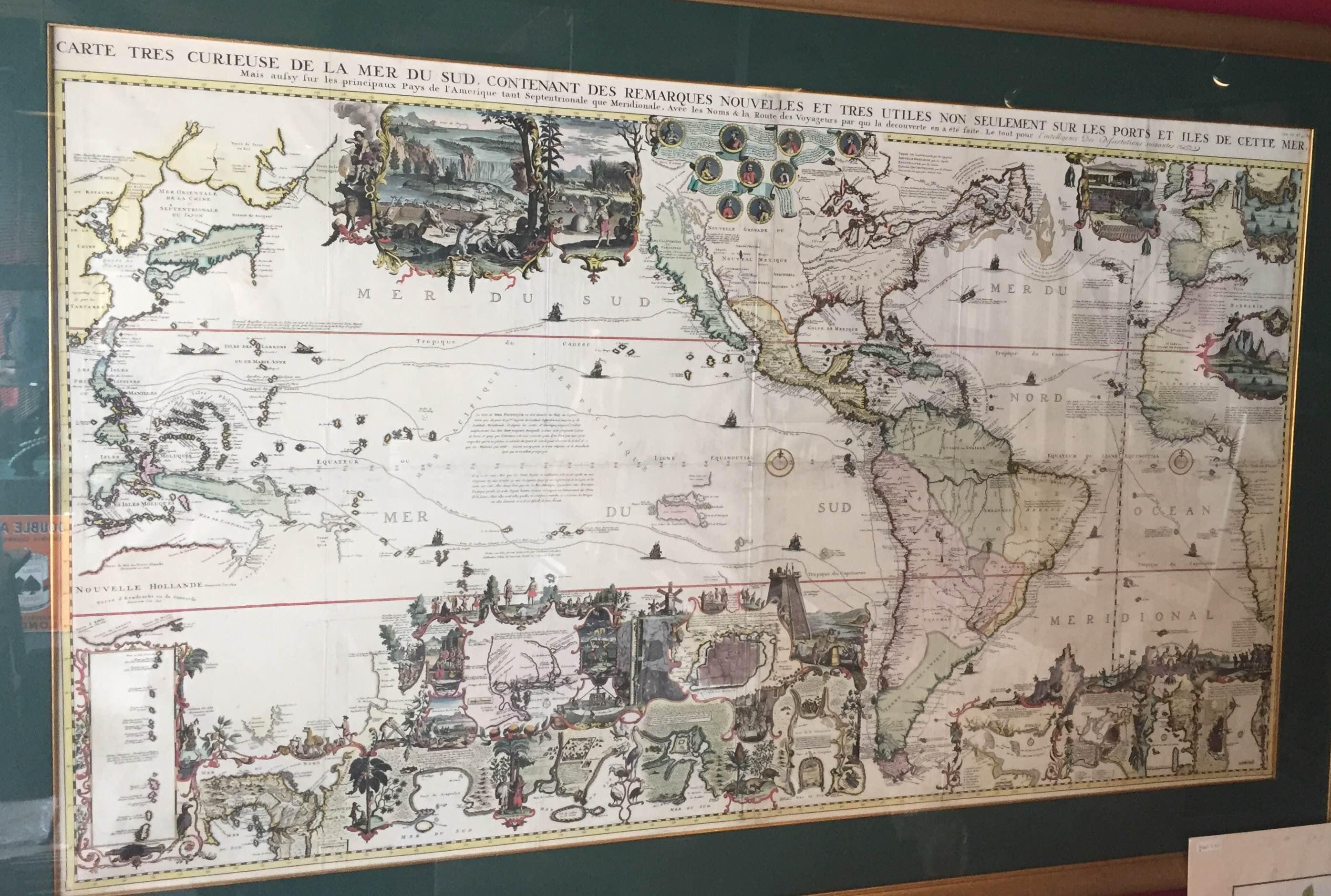 Antique world map by hatelain 1719 bartele gallerybartele gallery antique world map gumiabroncs Gallery
