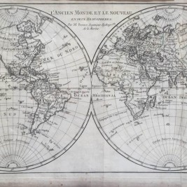 Antique world map by R. Bonne