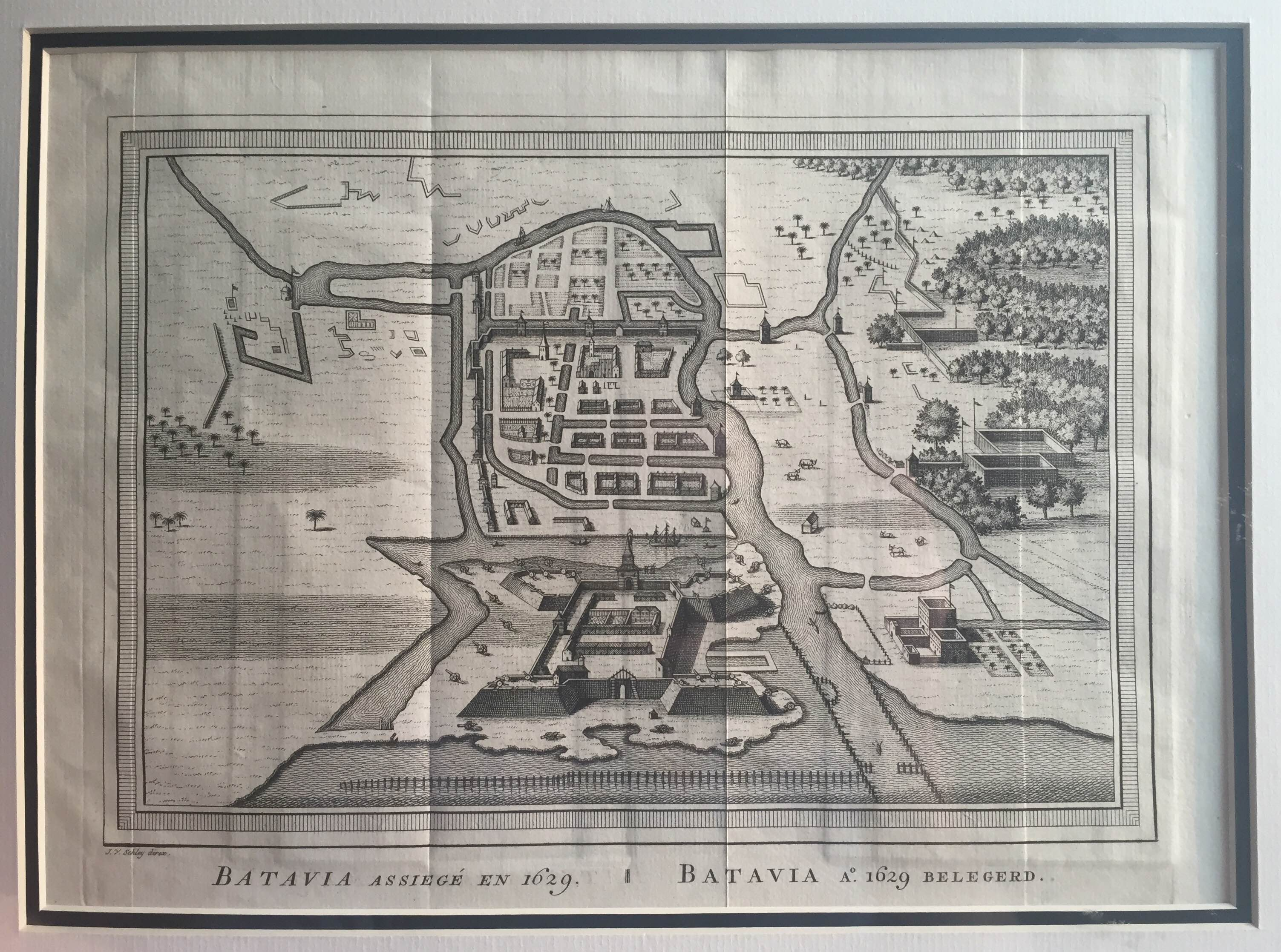 Antique Map Batavia by Van Sch...