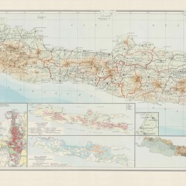 Antique Map Java by Wolters