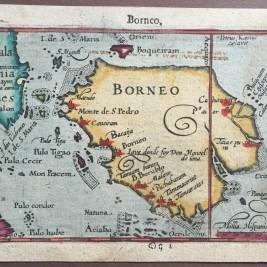 Antique Map Borneo by Langenes
