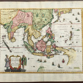 Antique Map South-East Asia by Merian