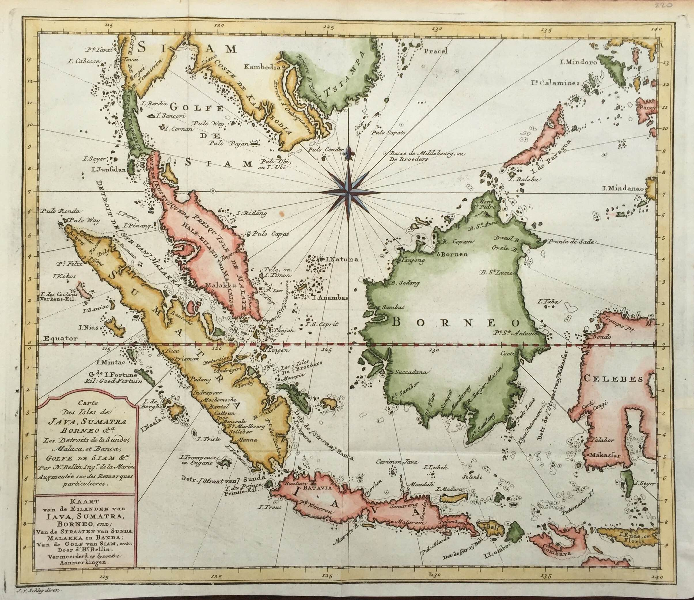 Carte Bali Sumatra.Antique Map Of Java Sumatra And Borneo By Bellin 1773