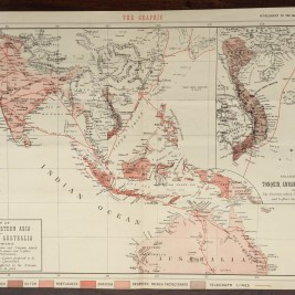 Antique Map of Southeastern Asia