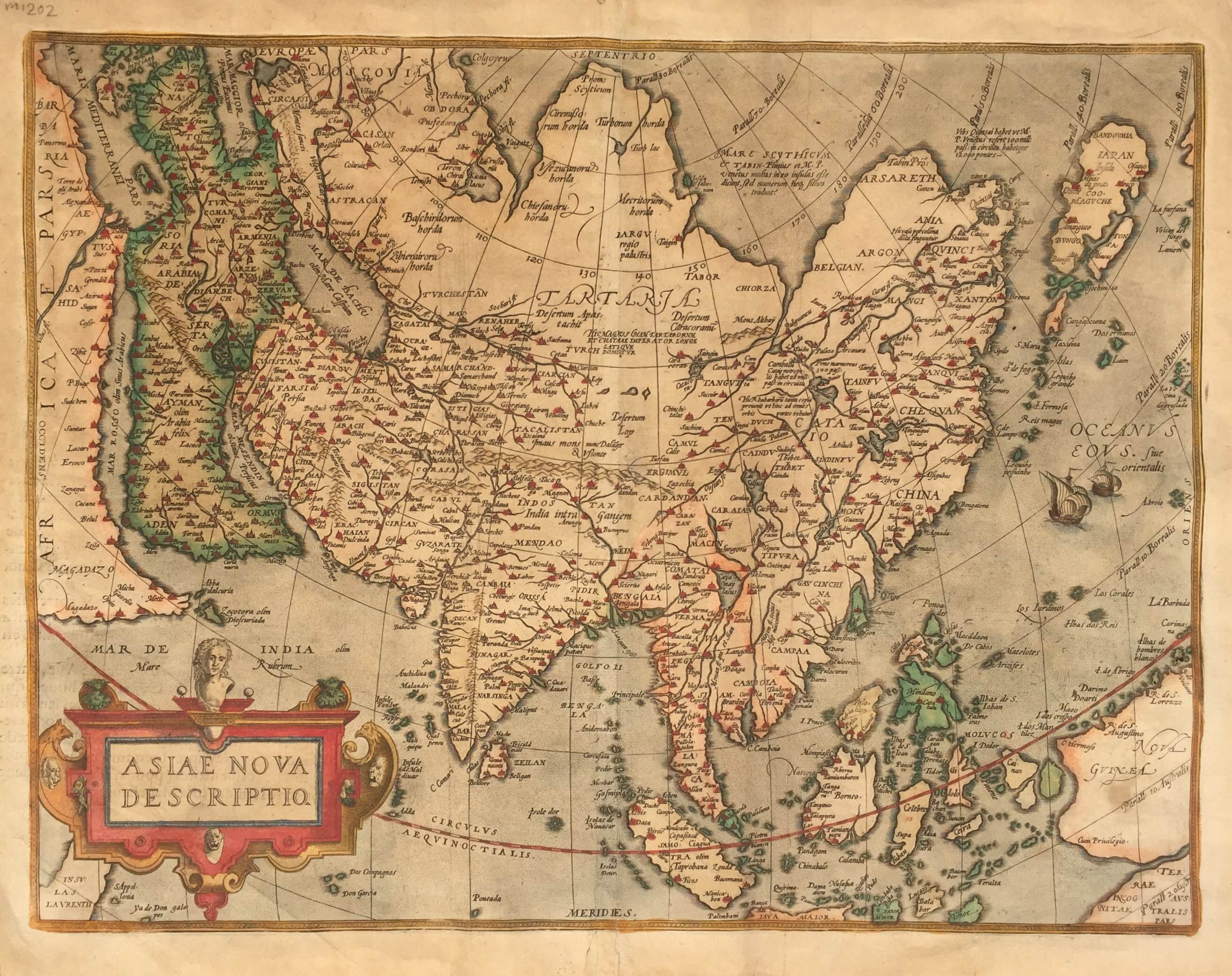 Map Of Asia In French.Antique Map Of Asia By Ortelius C 1572 Bartele Gallerybartele