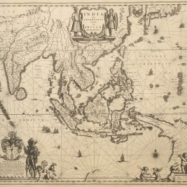 Antique Map of South-East Asia by Blaeu