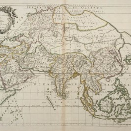Antique map of Asia by Sanson