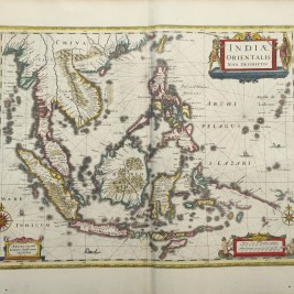 Antique map South-East Asia by Janssonius