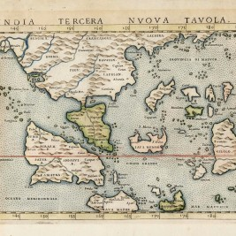 Antique Map South-East Asia by Ruscelli