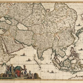 Antique Map of Asia by De Wit
