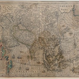 Antique Map of Asia by Hondius (c.1619)
