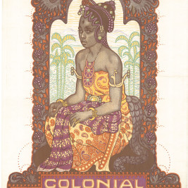 Antique Poster Colonial Exhibition