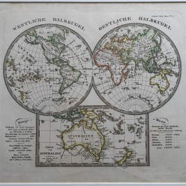 Antique World Map by A. Stieler