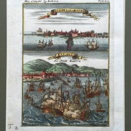Antique print Batavia by Mallet