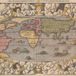 Antique map of the modern world