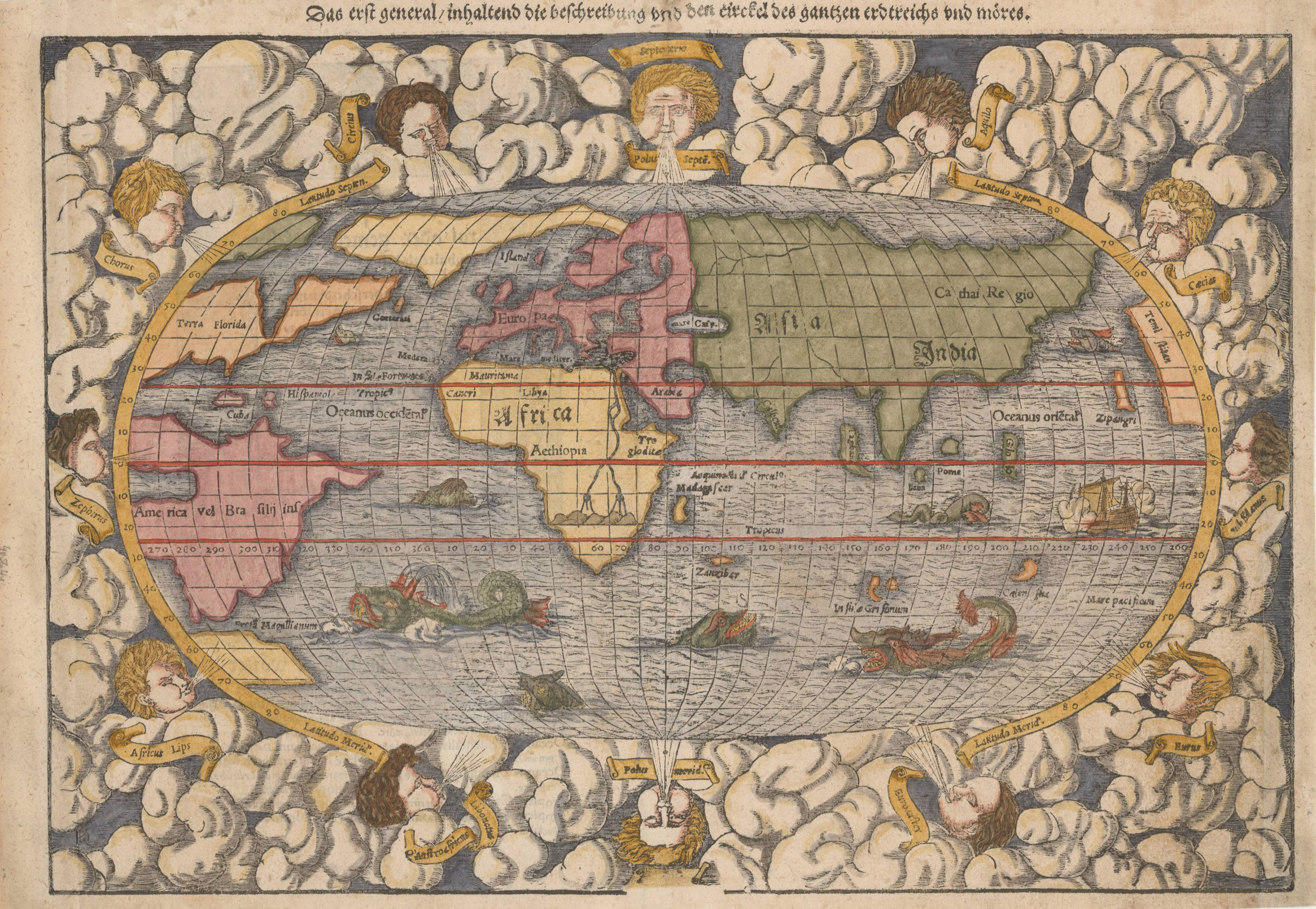 Antique Map Of The Modern World By Munsterbartele Gallery