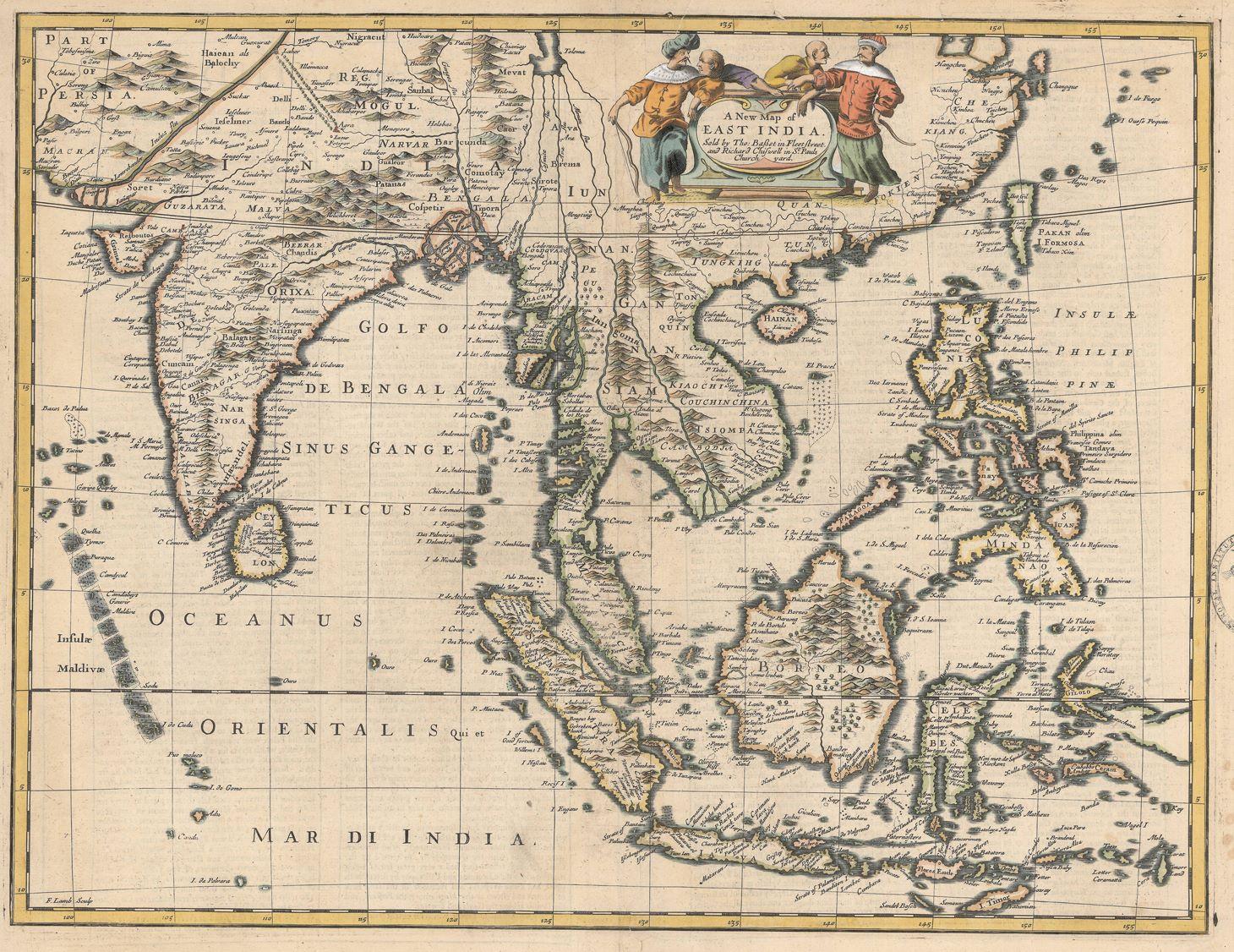 Antique Map East Indies By Speed 1676 Bartele Gallerybartele Gallery