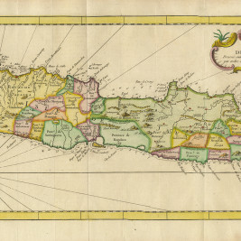 Antique Map of Java by Bellin