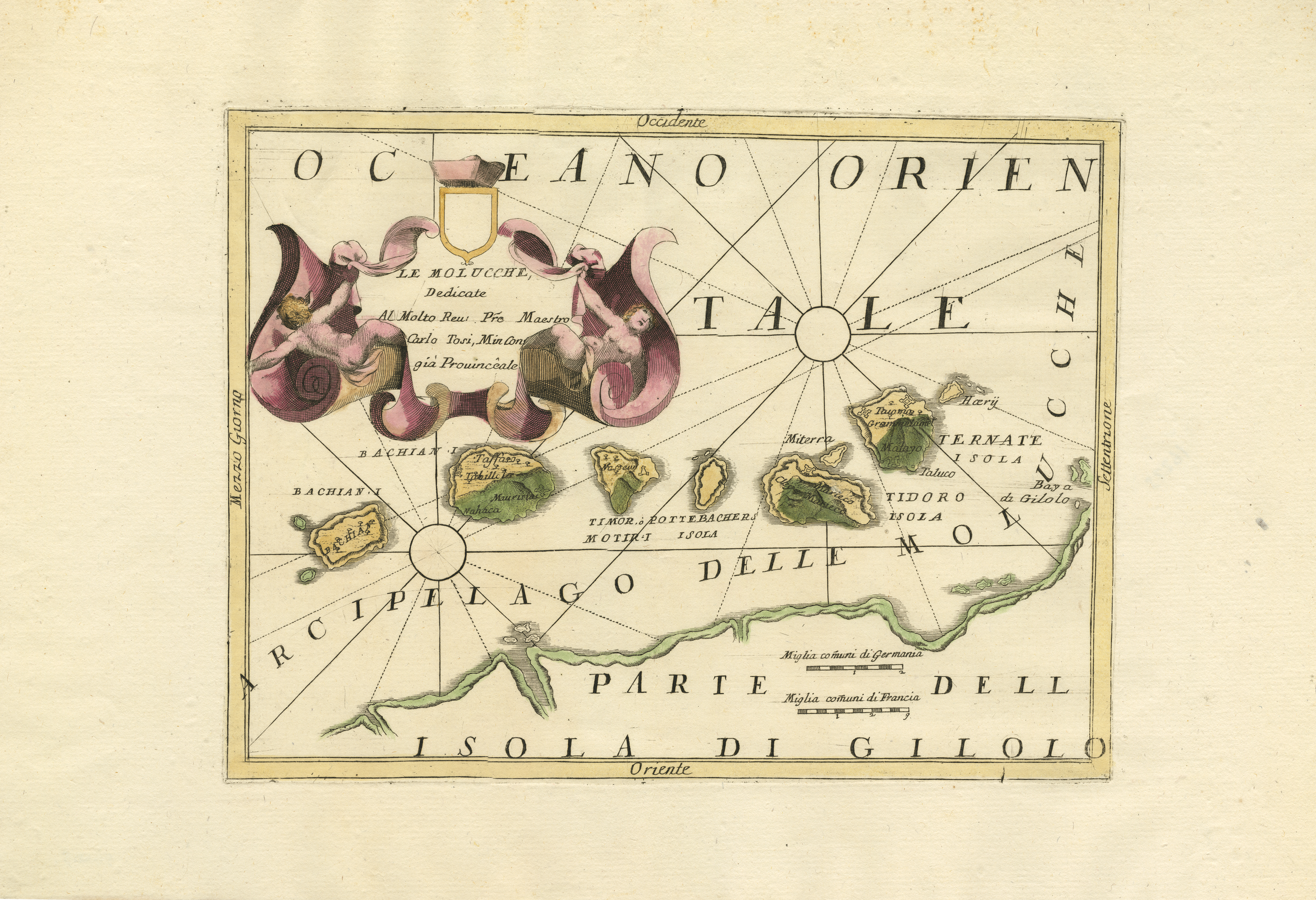 Antique Map Spice Islands by Coronelli (c 1690)Bartele Gallery