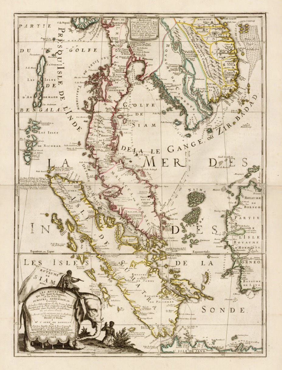 Antique Map of South-East Asia by Nolin and Coronelli (1742 ...