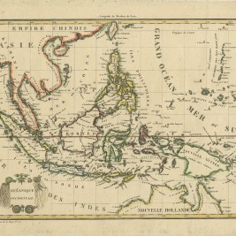 Antique Map of South-East Asia and the Philippines