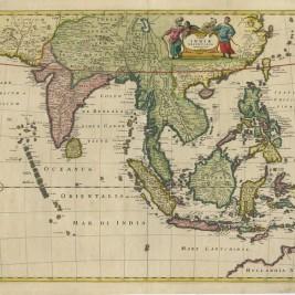 Antique Map South-East Asia by De Wit