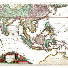 Antique Map of South-East Asia by Visscher