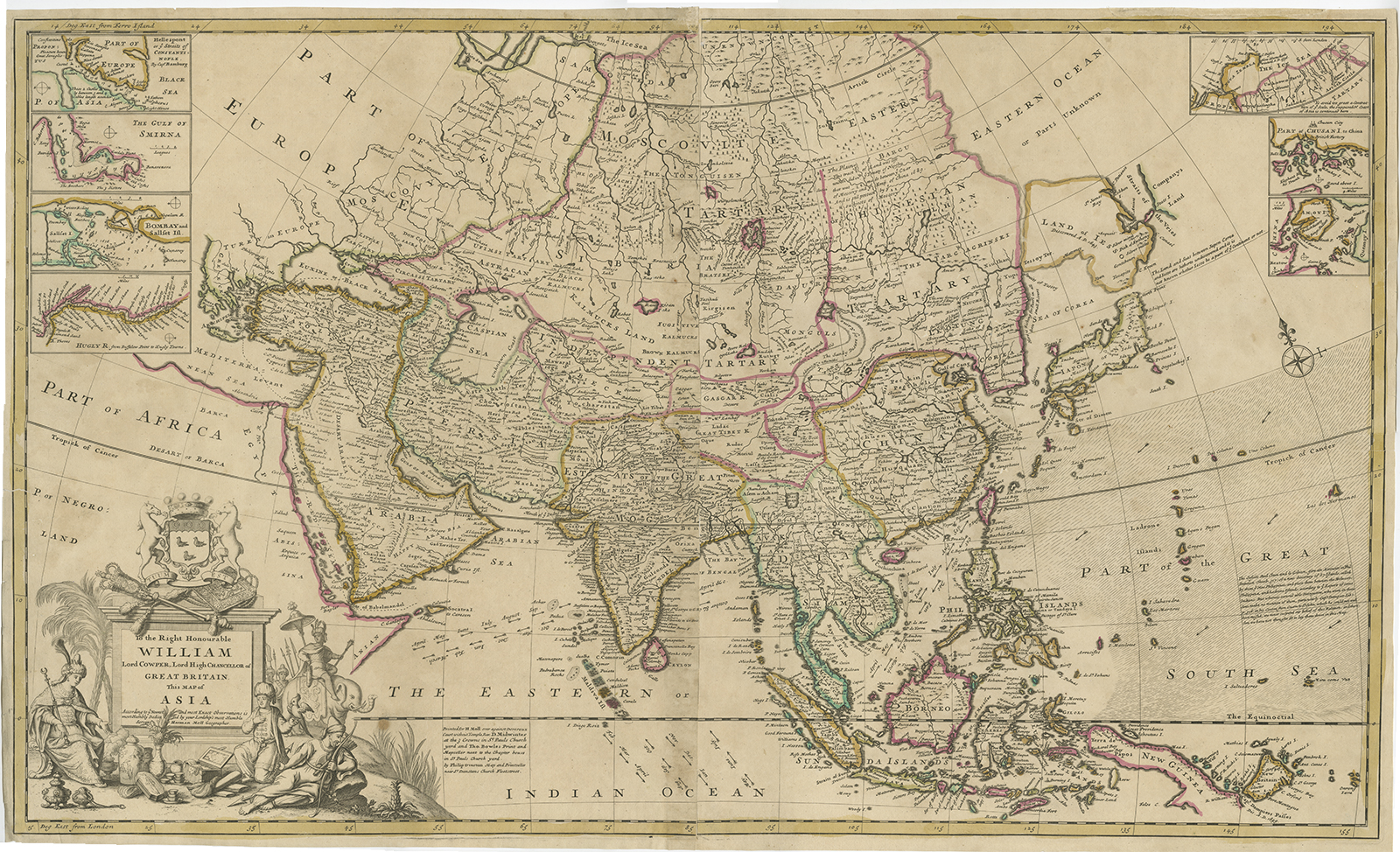 World Atlas Map Of Asia.Antique Map Of Asia By Moll C 1720 Bartele Gallerybartele Gallery
