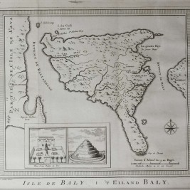 Antique map Bali