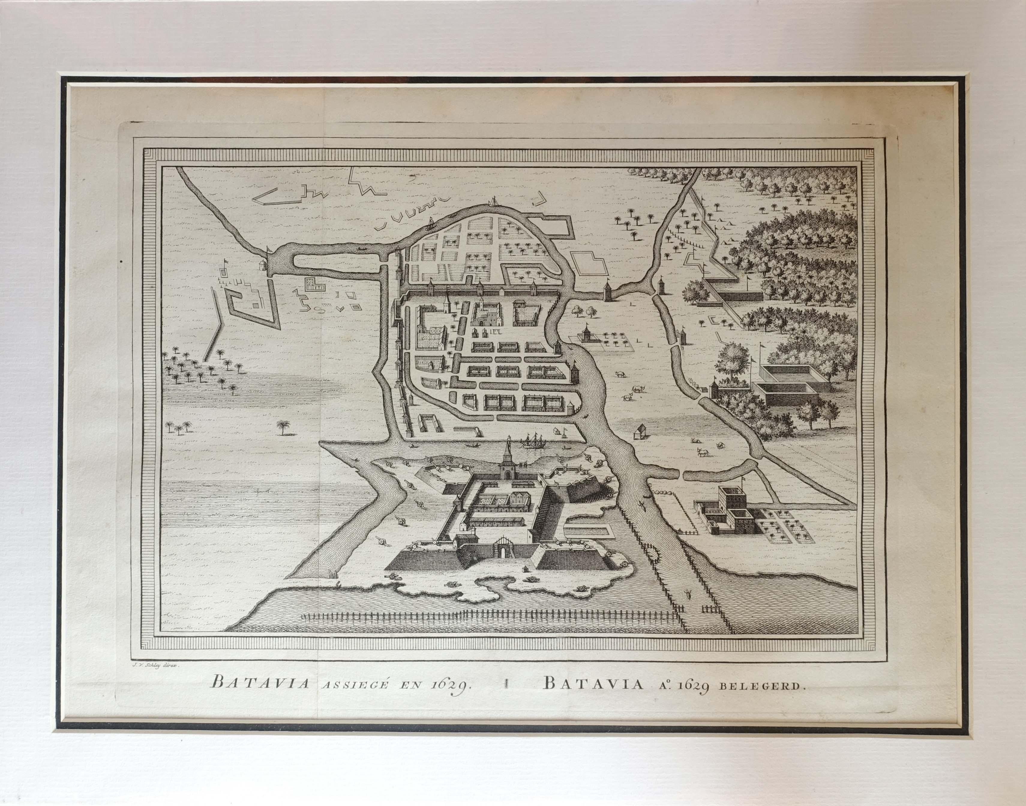 Antique Print Siege of Batavia...