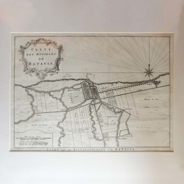 Map of Batavia by Van Schley