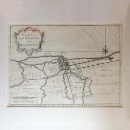 Map of Batavia by Van Schley