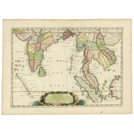 Map of India and Southeast Asia