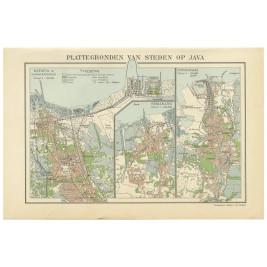 Map of Batavia, Semarang and Surabaya