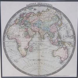 Antique World Map Eastern Hemisphere