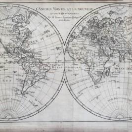 Antique world map by R. Bonne