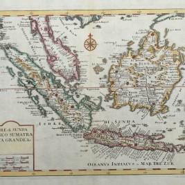 Antique Map Singapore, Sumatra, Java and Borneo