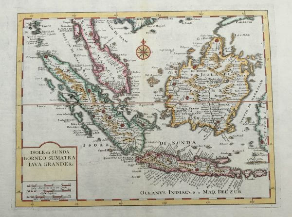 Antique Map Singapore, Sumatra, Java and Borneo