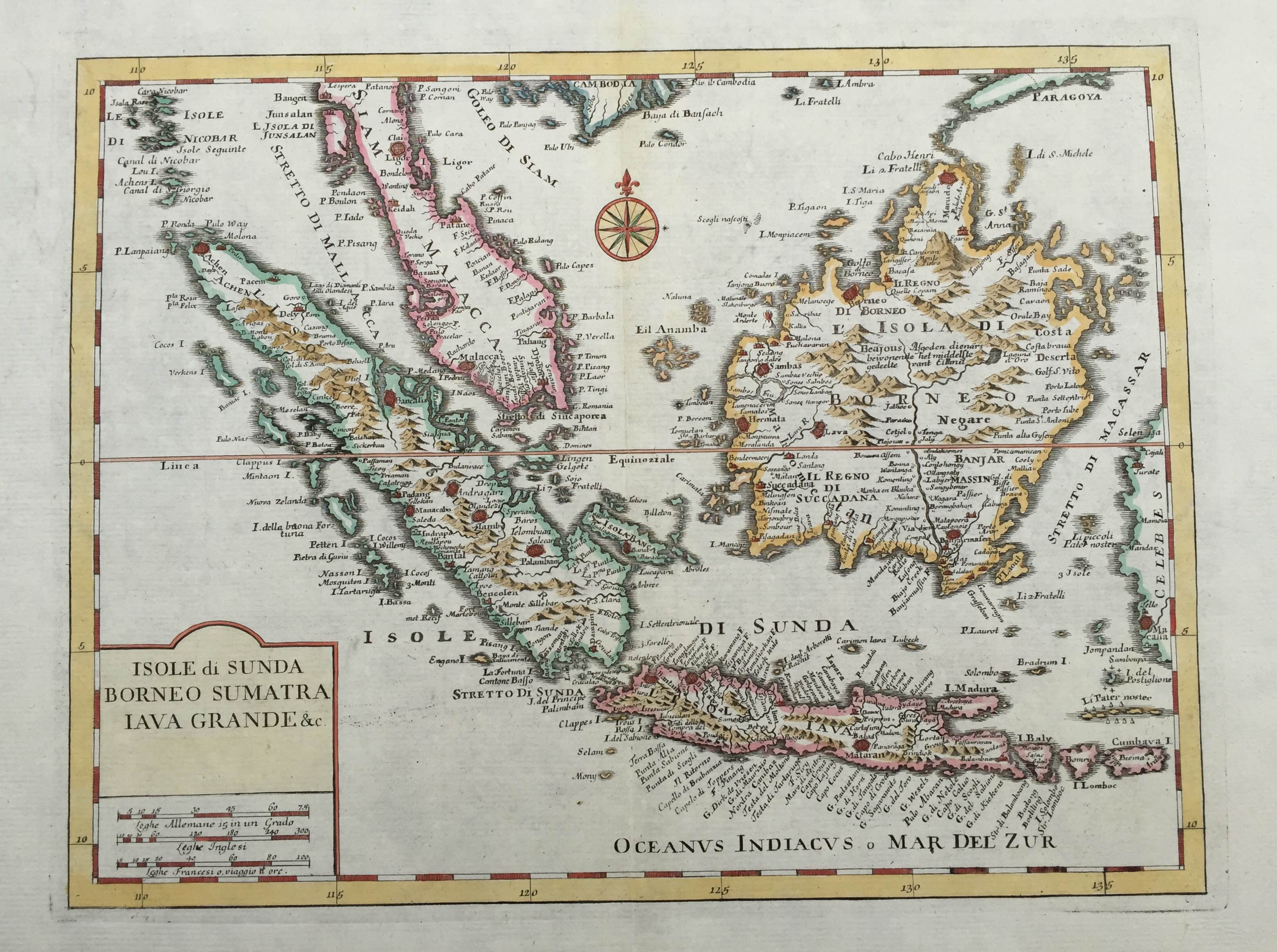 Picture of: Antique Map Singapore Sumatra Java And Borneo By Albrizzi 1740 Bartele Gallery