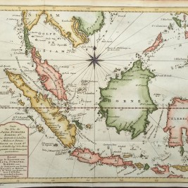 Antique Map of Java, Sumatra and Borneo
