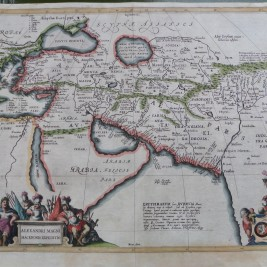 Antique Map of the Macedonian Expedition