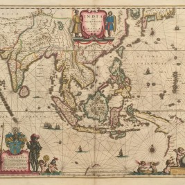 Antique Map South-East Asia by Blaeu