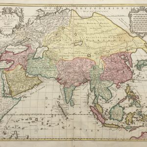 Antique Map of Asia by Elwe