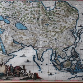 Antique map of the Asian continent