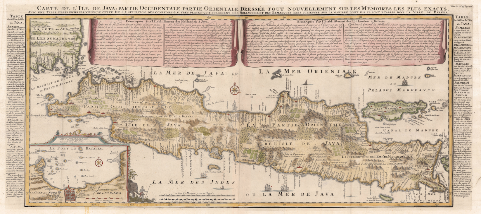 Antique Map Java by Chatelain