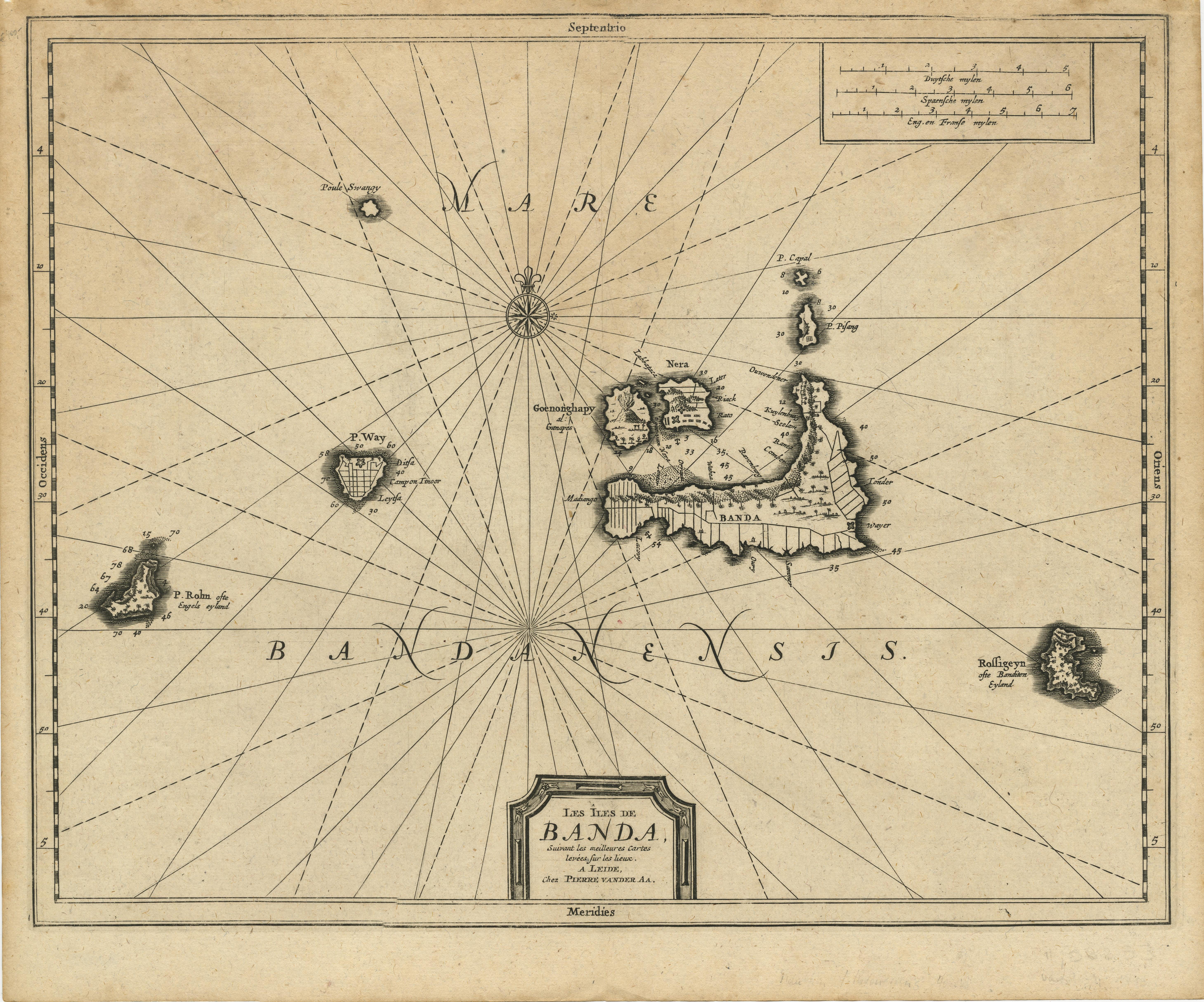 Antique Map Banda Islands by Van der Aa (1714)Bartele Gallery