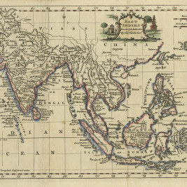 Antique Map East indies by Kitchin