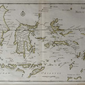 Antique map Moluccas